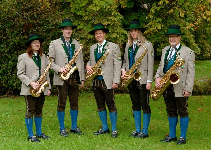 Gruppenbild Saxophon