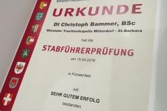 ÖBV Stabführerprüfung Urkunde